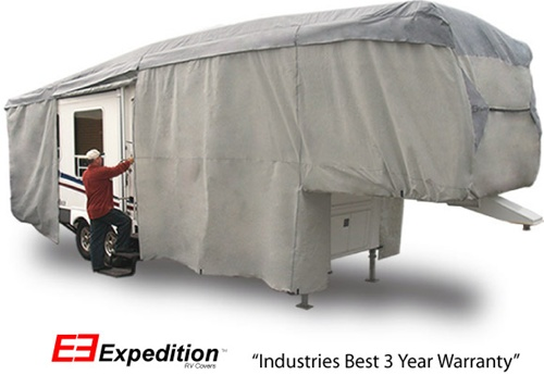 Expedition 5th Wheel RV Cover 33-37 foot length<br> 450 L x 120 H x 102 W (inches) Image