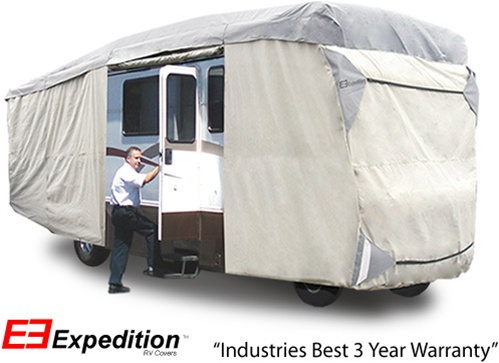 Expedition Class A RV Cover 33-37 foot length<br> 456 L x 120 H x 105 W (inches) Image
