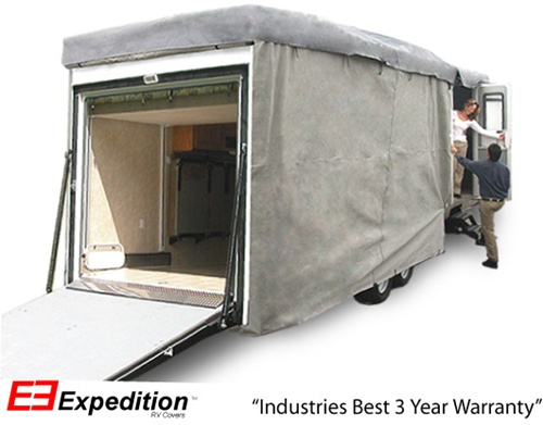 Expedition Toy Hauler RV Cover 24-28 foot length<br> 348 L x 120 H x 105 W (inches) Image