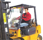 Forklift covers and enclosures