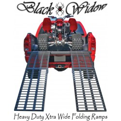 Black Widow Extra Wide Heavy Duty Folding Arched Ramps